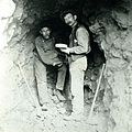 William J. Smith & Fred Stahlman at the Greenhorn Mt. Mine, Detroit, OR 1905-1913 (8113429431).jpg