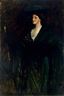 William Merritt Chase - The Emerald Lady - AL.19 - Museum of Fine Arts