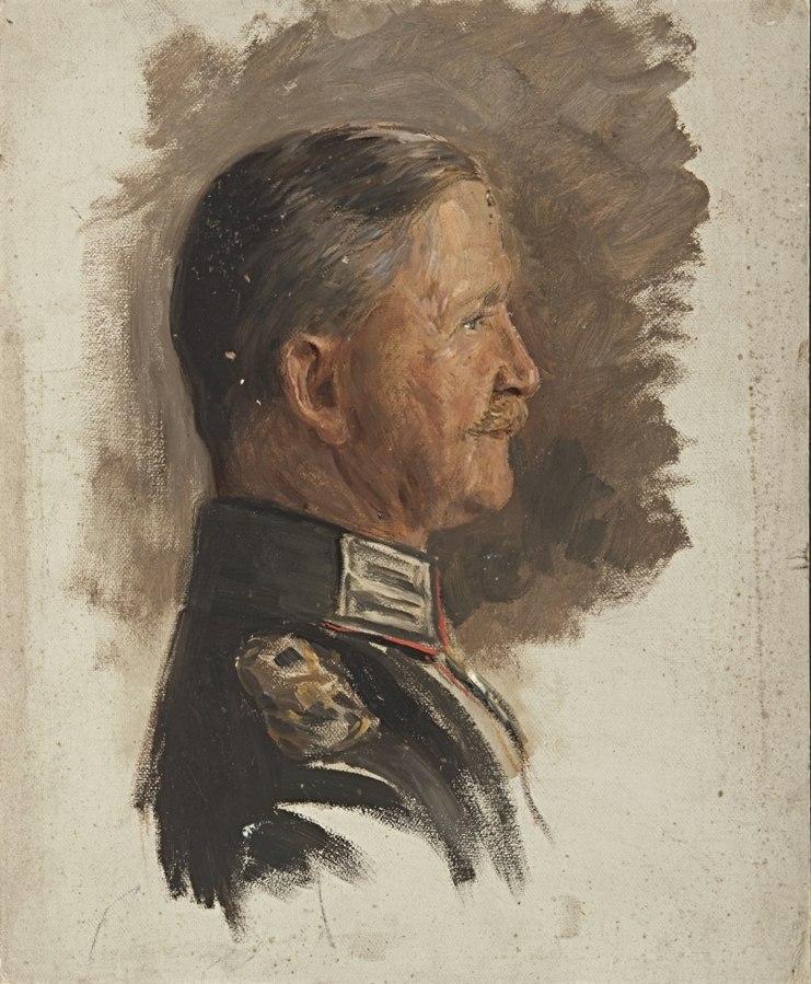 Ohne Titel (Portraitstudie Freiherr von Huene-Hoiningen, General der Infanterie, Gouverneur von Antwerpen)