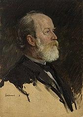 Ohne Titel (Portraitstudie Friedrich Kohlrausch). Studie zu dem verschollenen Gemälde \