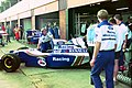 Williams pits at the 1994 British Grand Prix (32162349900).jpg