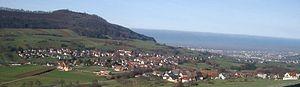 Wittnau, Baden-Württemberg - Die Gemeinde Wittnau am Schönberg, im Hintergrund liegt Freiburg