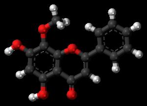 Wogonin - Image: Wogonin molecule ball