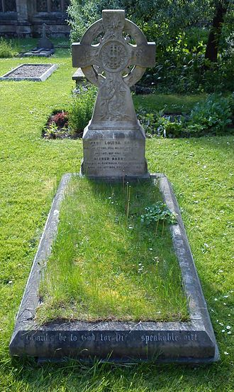 Alfred Barry - Worcester Cathedral, grave of Bishop Alfred Barry in the Cathedral Cloisters