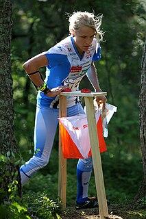 Minna Kauppi Finnish orienteer