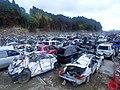Wrecks and ruins after the 2011 Tōhoku earthquake 20110617 07.jpg