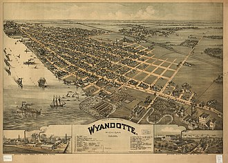 Wyandotte, Michigan - Wyandotte, 1896.
