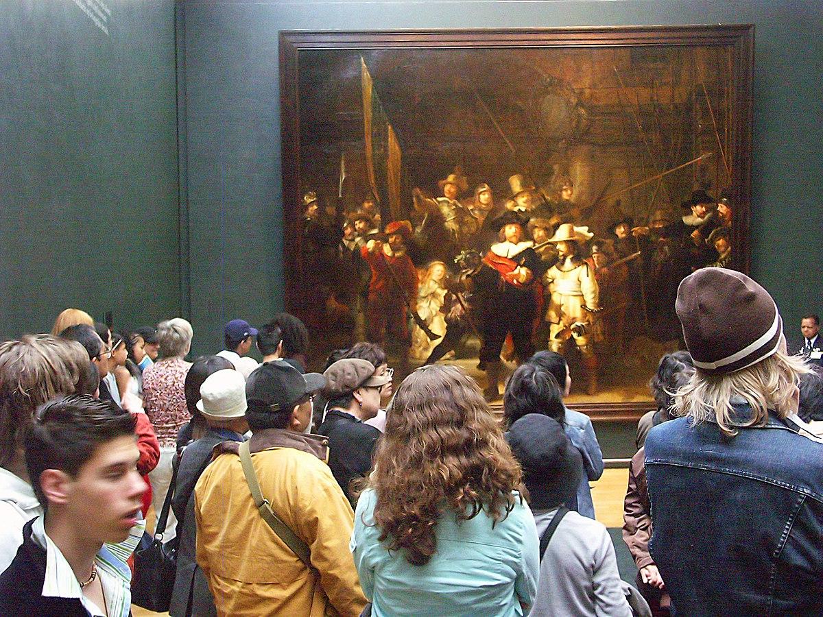 """Así es como verías el cuadro """"Ronda de noche"""", de Rembrandt, en el Museo Rijksmuseum de Ámsterdam."""