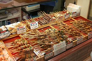 Yakitori - Several yakitori in food court areas