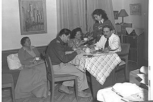 Yehuda Burla - Yehuda Burla and family in 1949