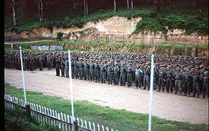 Khun Sa - Khun Sa's forces at Ner Mone, Shan State, 1990.