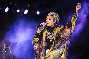 Yuna (singer) - Yuna performing in Bandung, 2016