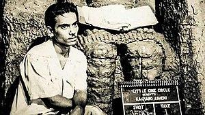 Zahir Raihan - Raihan at the set of the film Kokhono Asheni (1961)