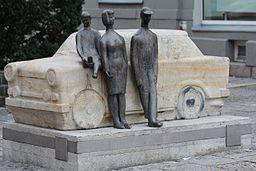 Zwickau Georgenplatz Trabantdenkmal