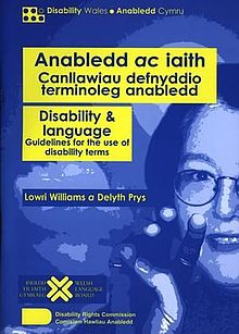 Anabledd ac Iaith - Canllawiau Defnyddio Terminoleg Anabledd - Disability & Language - Guidelines for the Use of Disability Terms (llyfr).jpg