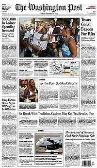 Tudalen blaen 23-09-05 The Washington Post.jpg