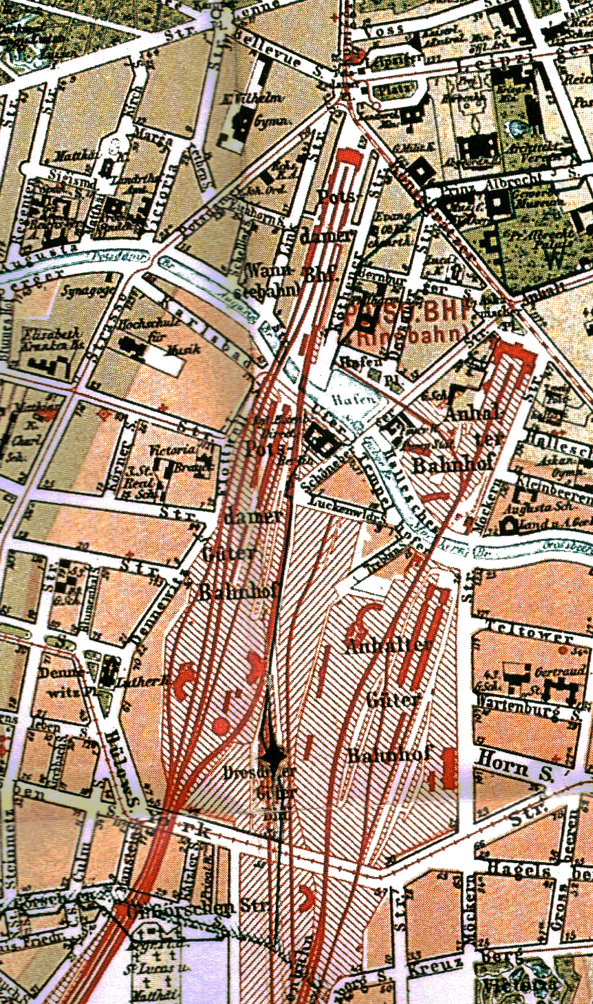 Karte Friedrichsvorstadt