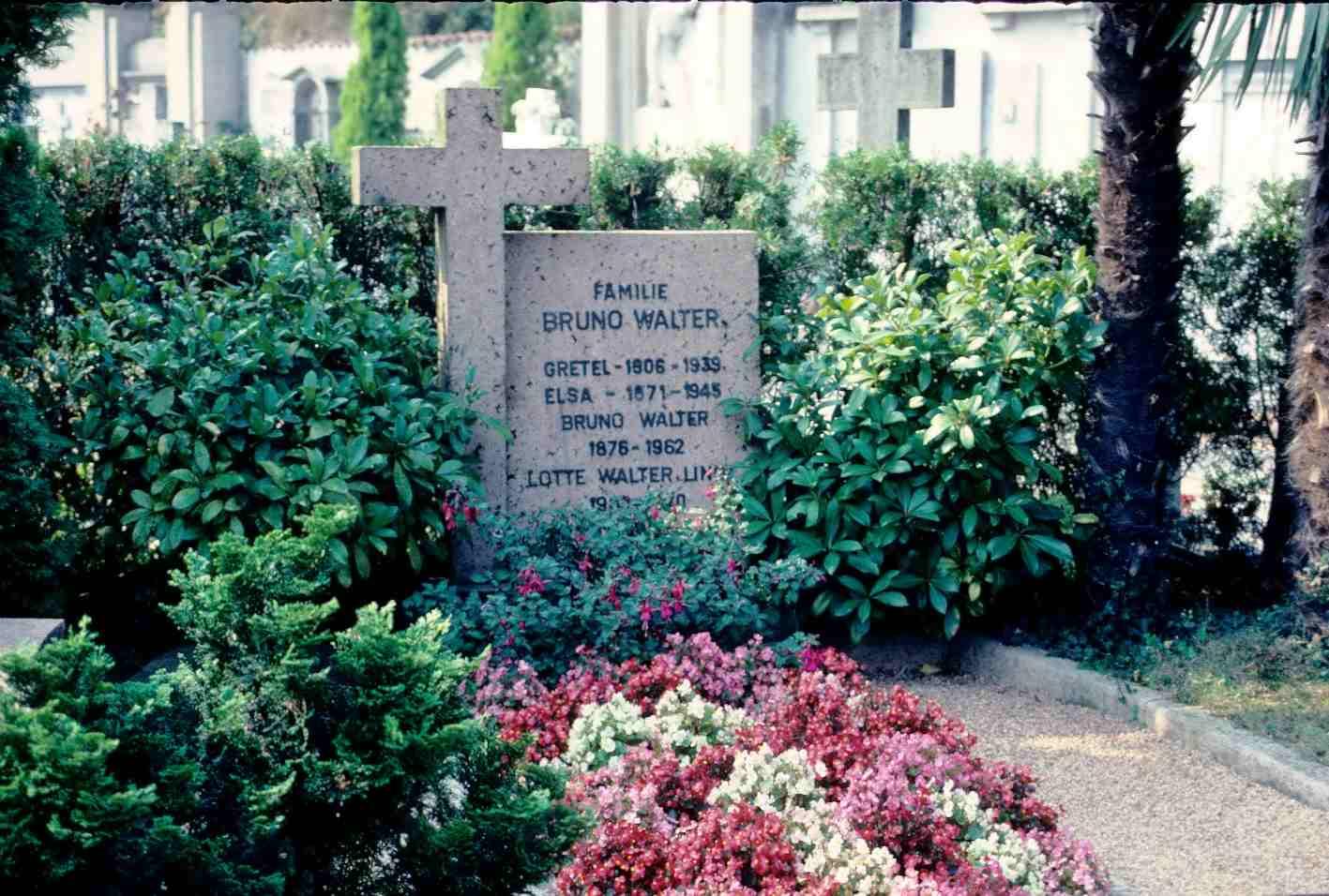 Grób Bruno Waltera na cmentarzu San Abbondio, Collina d'oro-Gentilino