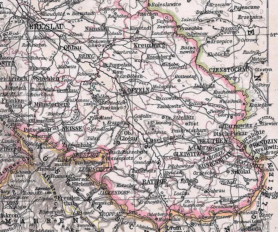 landkarte schlesien Datei:Oberschlesien Karte 1905.png – Wikipedia landkarte schlesien