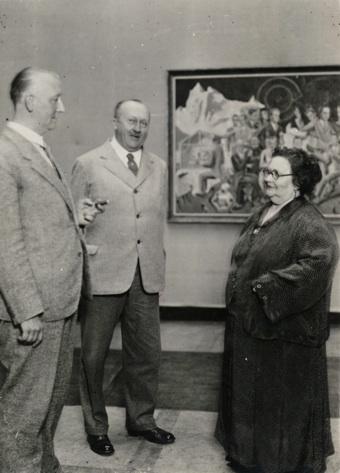 Hannes Maria Flach, Mutter Ey, 1928.jpg