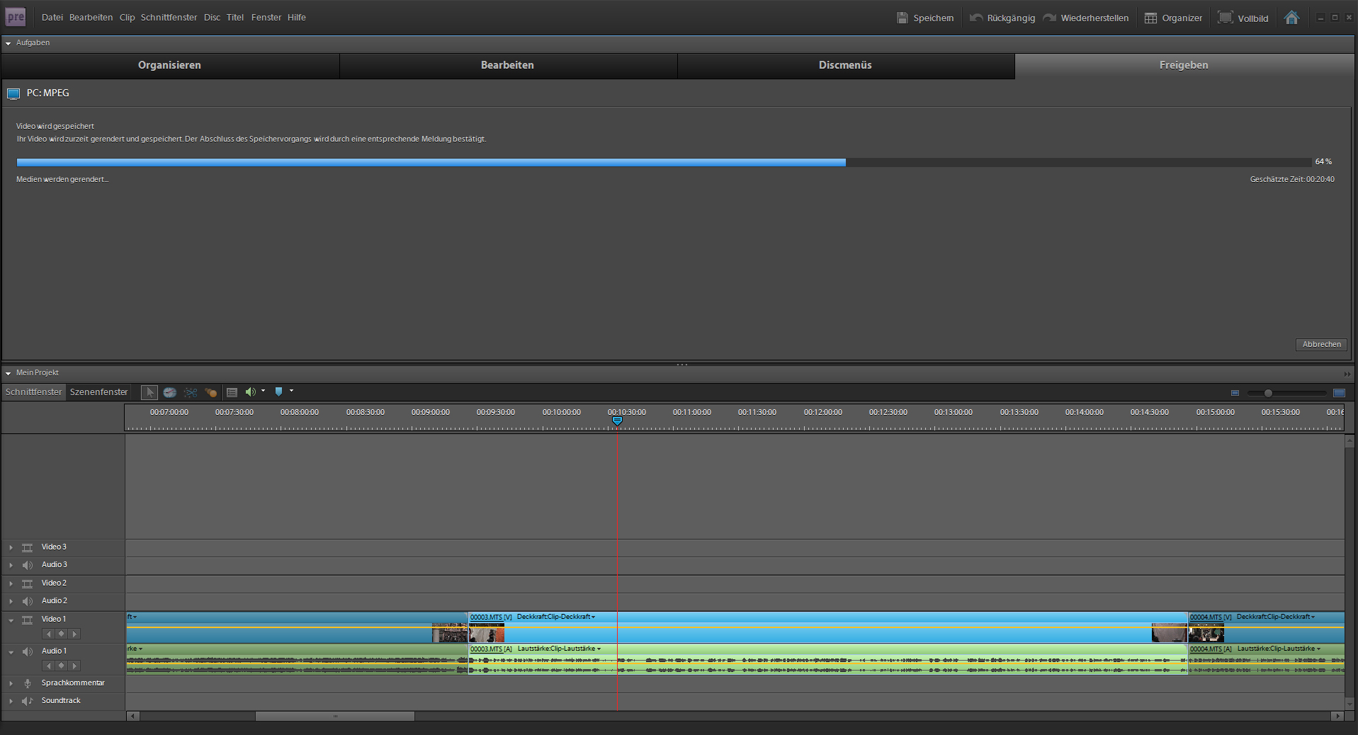 adobe premiere how to put segment in bin