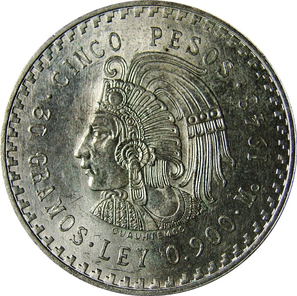 Cuauhtémoc (Münze) – Wikipedia Pesos Symbol