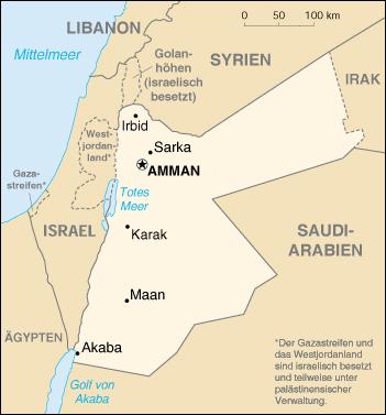 Jordania  tambien aparece Palestina con el nombre de Israel