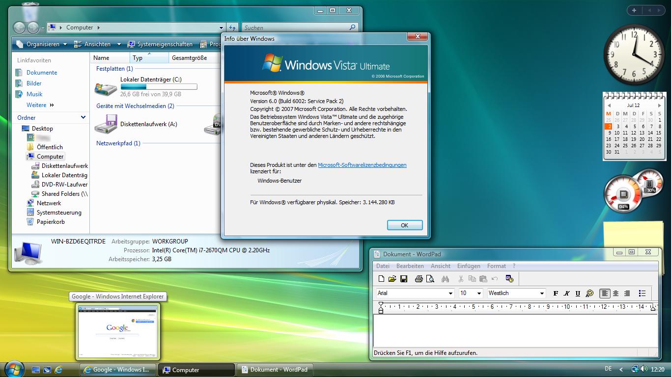 Windows Vista Home Basic  Or  Bit