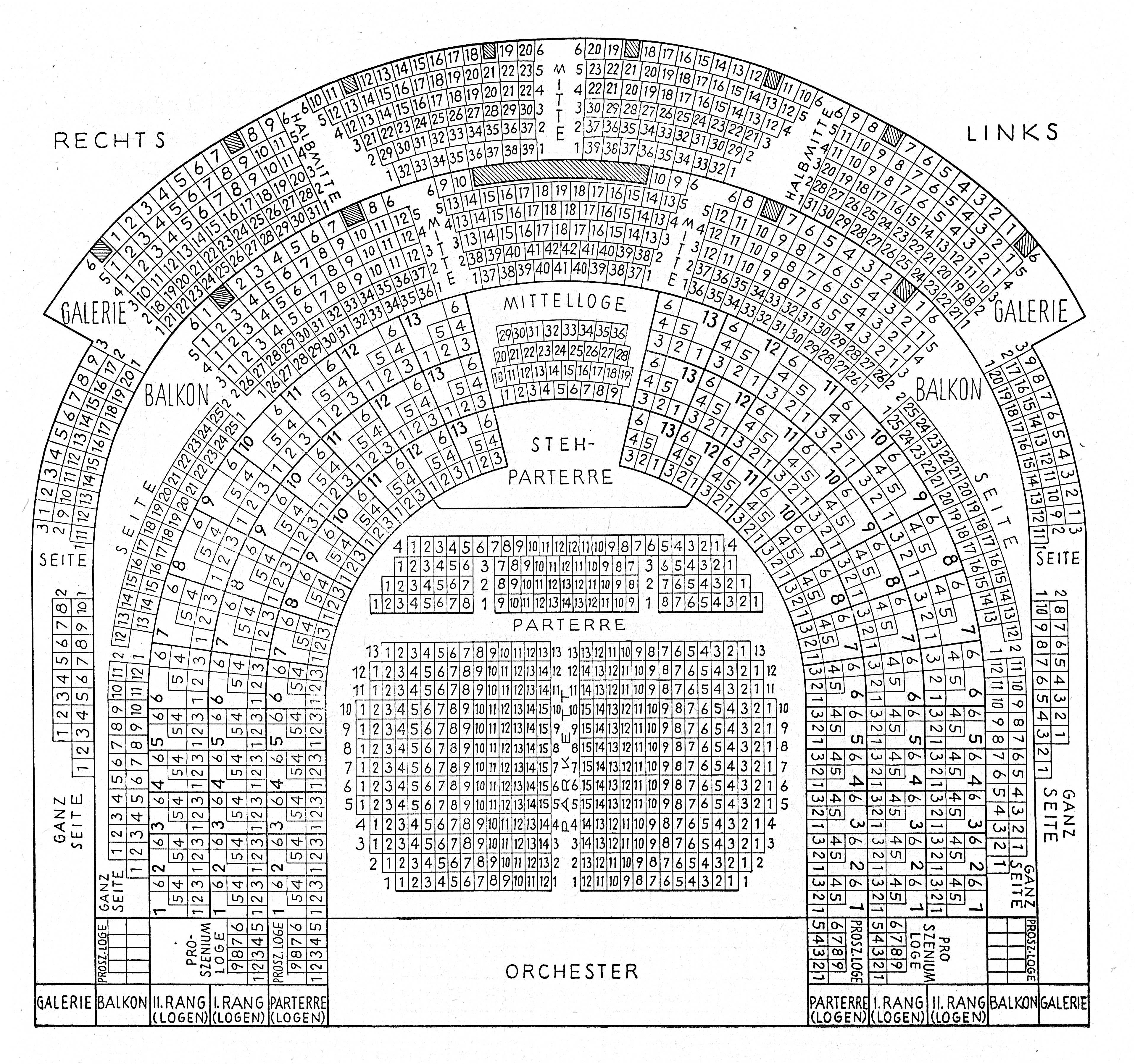 Dynamisch Saalplan Wiener Staatsoper Galerie