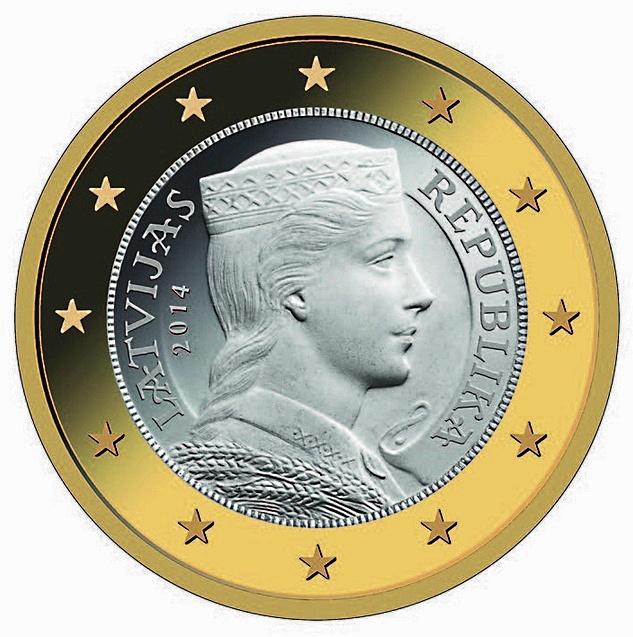 1 Euro Lettland