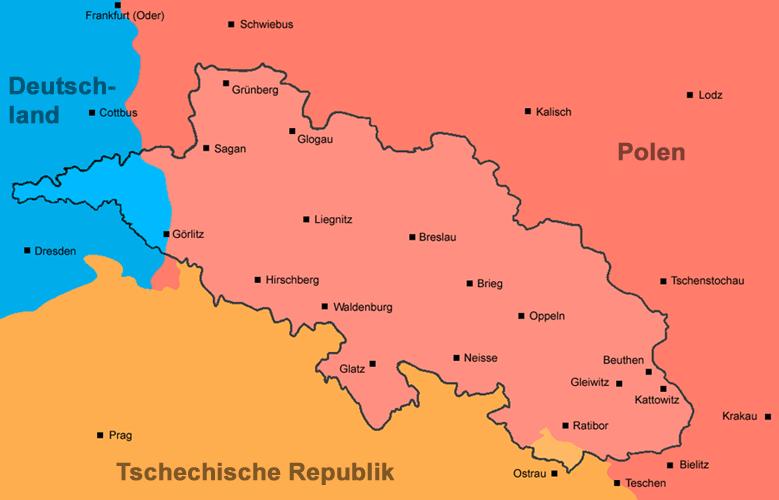 Schlesien Karte Heute.Datei Schlesien Karte 1 Png Wikipedia