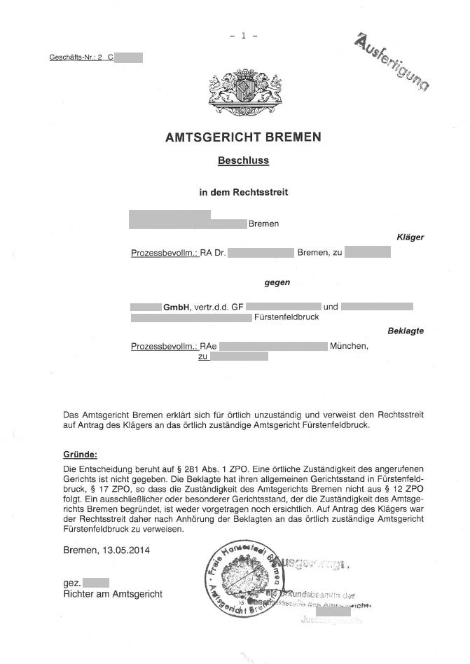 Verwaltungsgericht Klage Abgewiesen Im Ruhlander