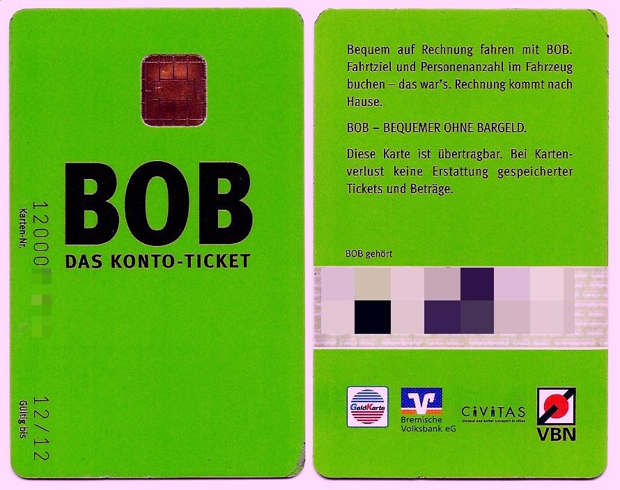 Bob Karte Sperren