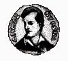 Siegel der griechischen Gemeinde Vyronas mit dem Porträt Byrons (Quelle: Wikimedia)