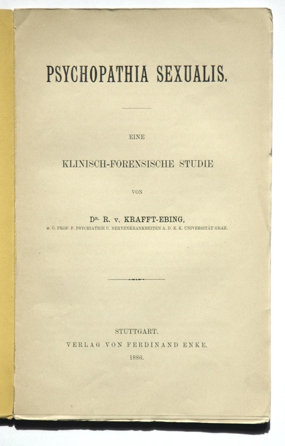 Psychopathia sexualis (Krafft-Ebing) – Wikipedia