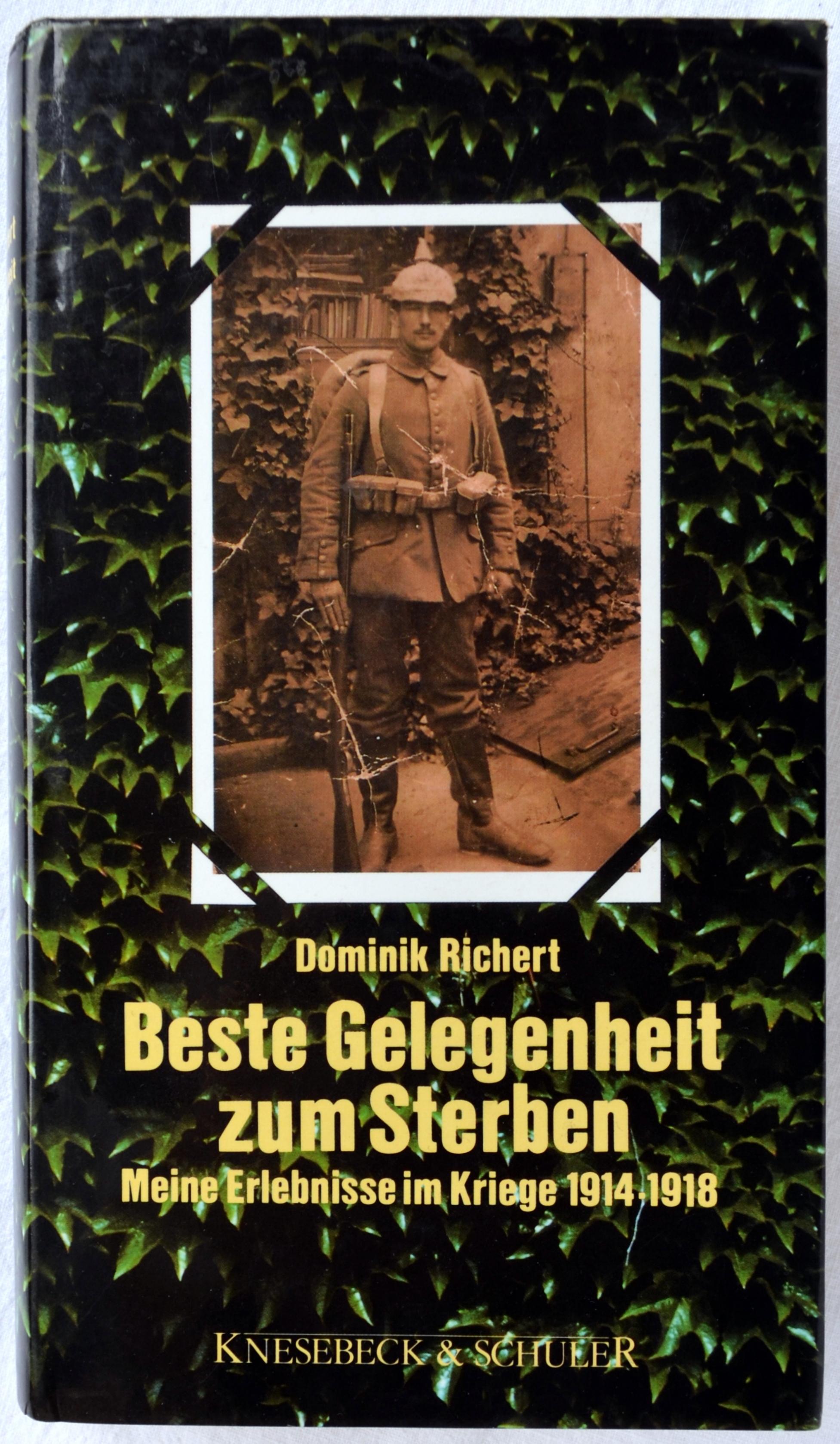Buchcover: Richert Dominik - Beste Gelegenheit zum Sterben