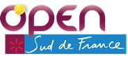 "Logo des Turniers ""Open Sud de France 2018"""
