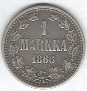 1 Finnische Mark von 1866