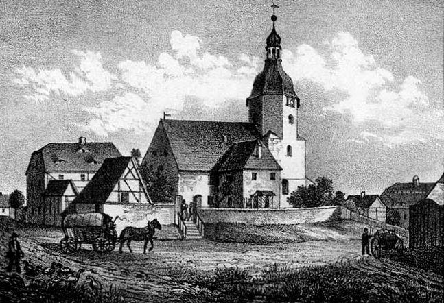 Dorfkirche Kleinzschocher um 1850