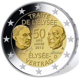50 Jahre Elysée-Vertrag: Neue 2-Euro-Münze erschienen