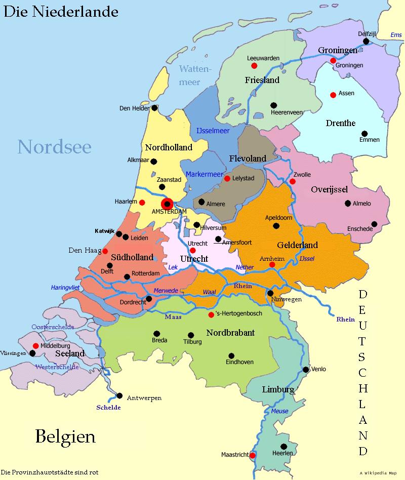 landkarte holland meer