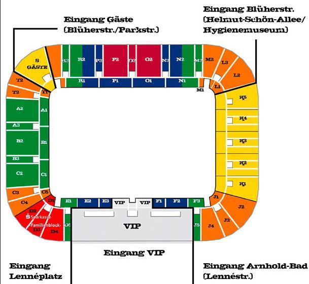 Tivoli Aachen Stadionplan