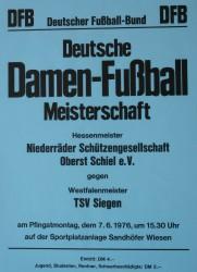 Ankündigung zum Endrunden-Spiel gegen TSV Siegen am 7. Juni 1976