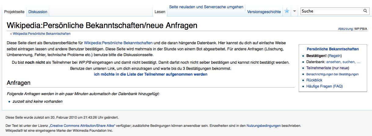 Bekanntschaften wiki