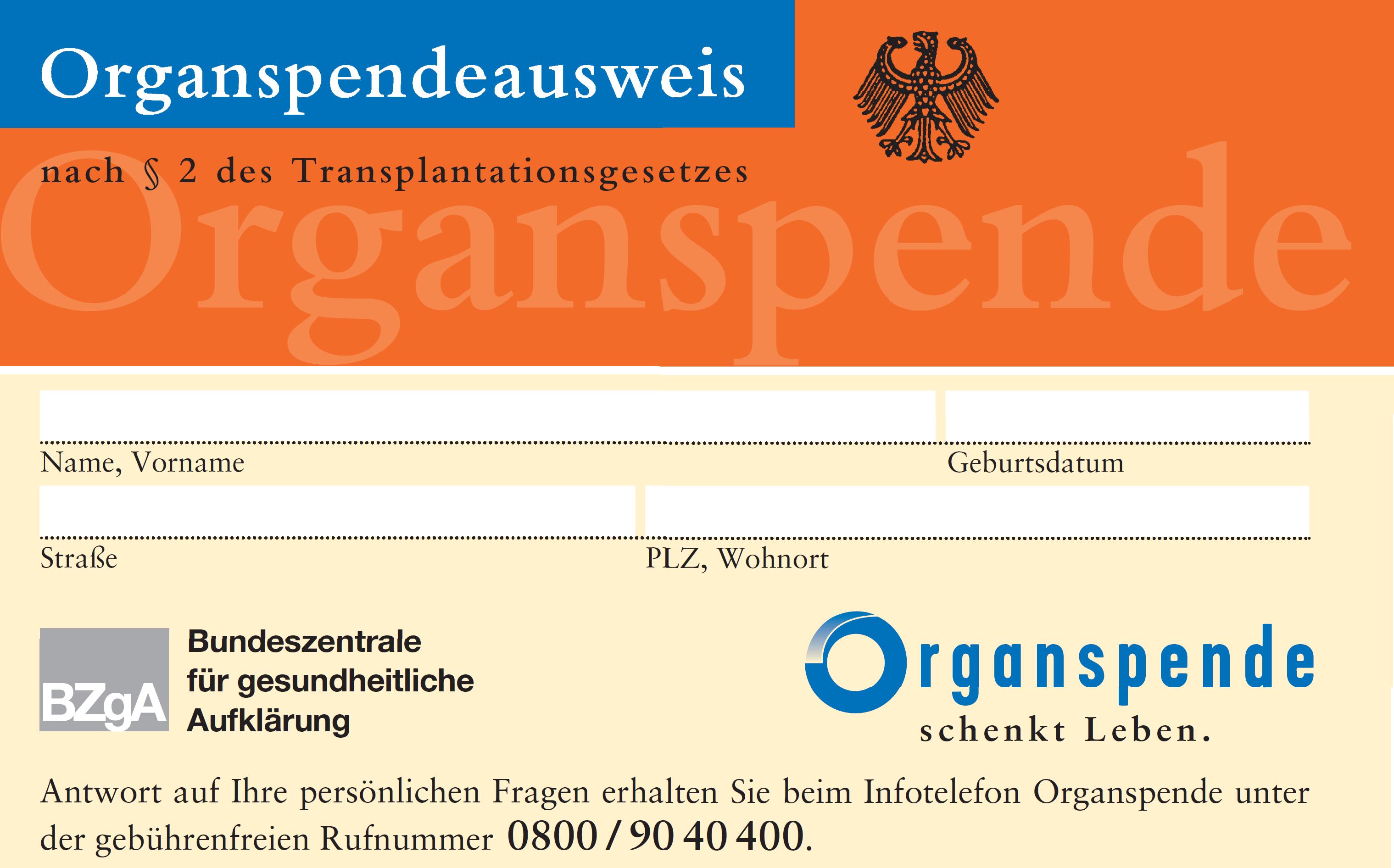 organspendeausweis karte Datei:Organspendeausweis.png – Wikipedia