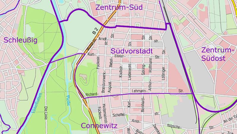 Leipzig Karte Mit Stadtteilen.Sudvorstadt Leipzig Wikipedia