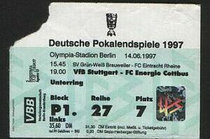 Programm 1996//97 VfB Leipzig Am Heidenauer SV