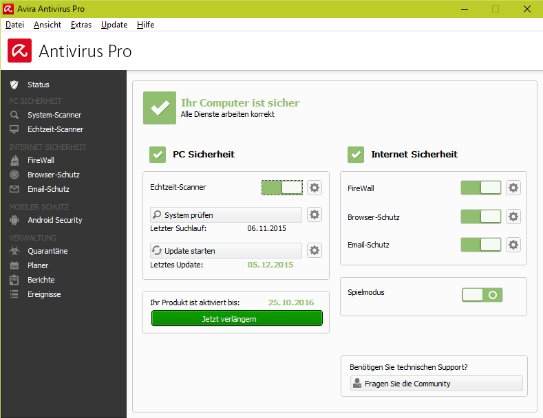 avira free antivirus 2016 download deutsch