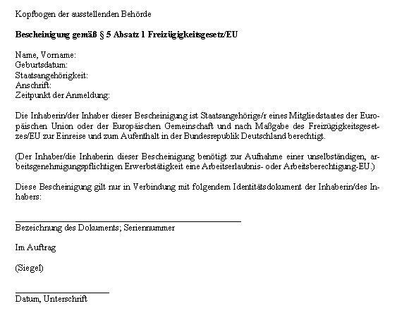 Freizügigkeitsbescheinigung (Deutschland) – Wikipedia