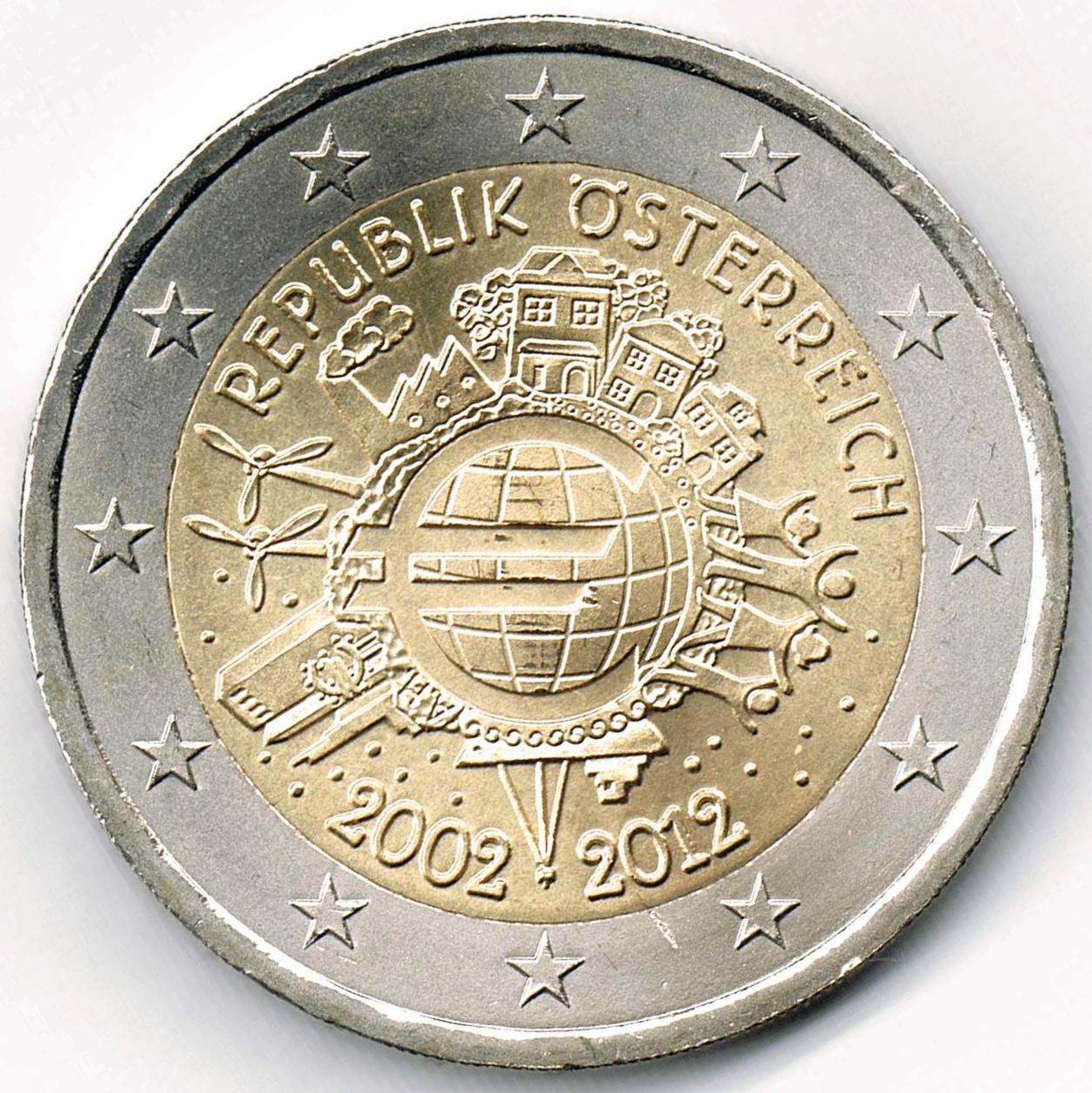 Datei2 Euro österreich 2012 Bargeldjpg Wikipedia